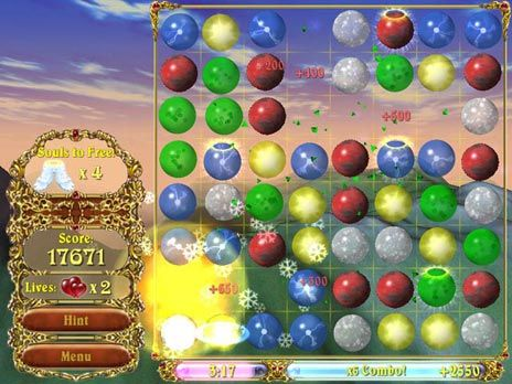Sky Bubbles Deluxe Game screenshot
