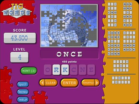 Jig Words Game screenshot