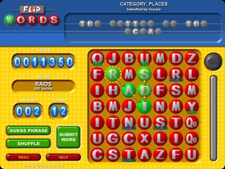 Click to view Flip Words Free game download 1.0.2 screenshot