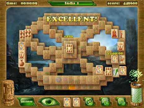 Mahjongg Artifacts 2 Free Game - Click for fullscreen