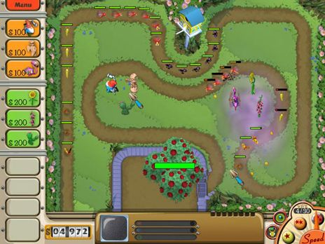 Click to view Garden Defense Game 3.0 screenshot