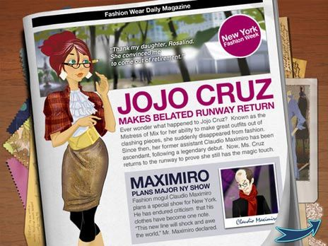 Click to view Jojos Fashion Show Game 2.0.3 screenshot