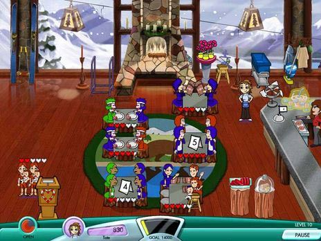 Click to view Diner Dash Seasonal Snack Pack Game 3.0 screenshot