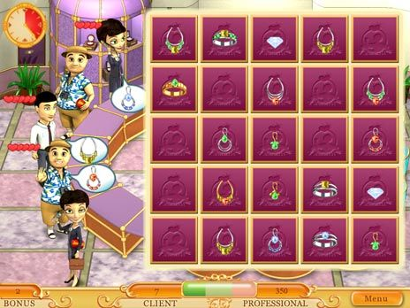Click to view Jewelleria Game 3.0 screenshot