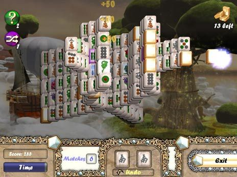 Aerial Mahjong game screenshot