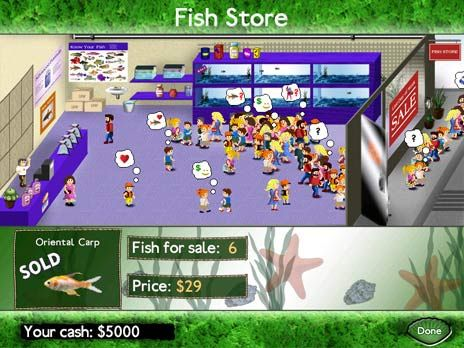 Click to view Fish Tycoon Game 2.0.1 screenshot