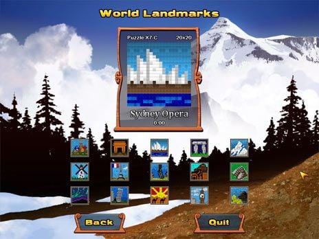 World Mosaics 2 Game screenshot