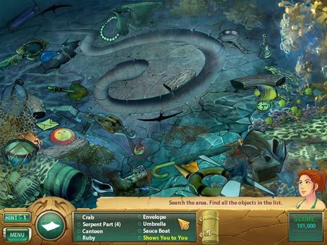 Samantha Swift 3 Atlantis game screenshot