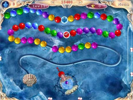 Aqua Pearls Game screenshot